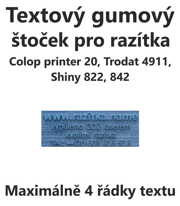 Štoček do razítka Colop printer 20, trodat 4911